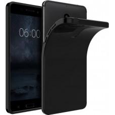 Siliconen Hoesje Zwart voor Nokia 8