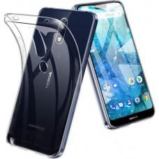 Siliconen Hoesje Transparant voor Nokia 7.1