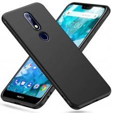 Siliconen Hoesje Zwart voor Nokia 7.1